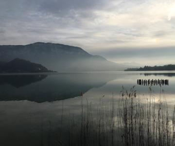 Crépuscule sur le Lac d'Aiguebelette