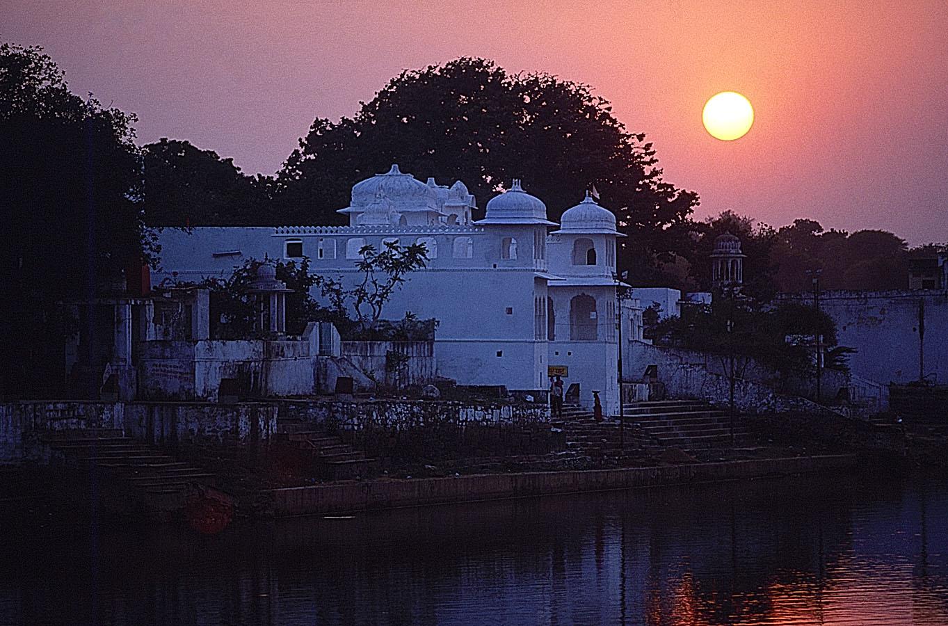 Coucher de soleil sur le Lac de Pushkar